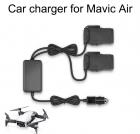 Автомобильная зарядка на 2 акб для квадрокоптера DJI Mavic Air