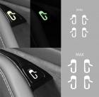 Наклейки на кнопки для TESLA Model 3