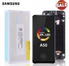 Дисплейный модуль AMOLED в рамке для Samsung Galaxy A50 2019 SM-A505F
