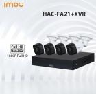 Четырёх канальная система безопасности Dahua IMOU HAC-FA2+XVR
